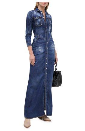 Женское джинсовое платье DSQUARED2 синего цвета, арт. S72CV0128/S30341 | Фото 2