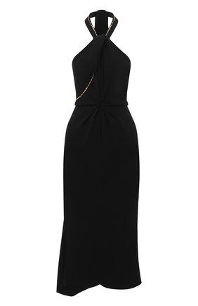 Женское платье из вискозы VICTORIA BECKHAM черного цвета, арт. 1320WDR001625A   Фото 1