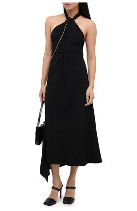 Женское платье из вискозы VICTORIA BECKHAM черного цвета, арт. 1320WDR001625A   Фото 2