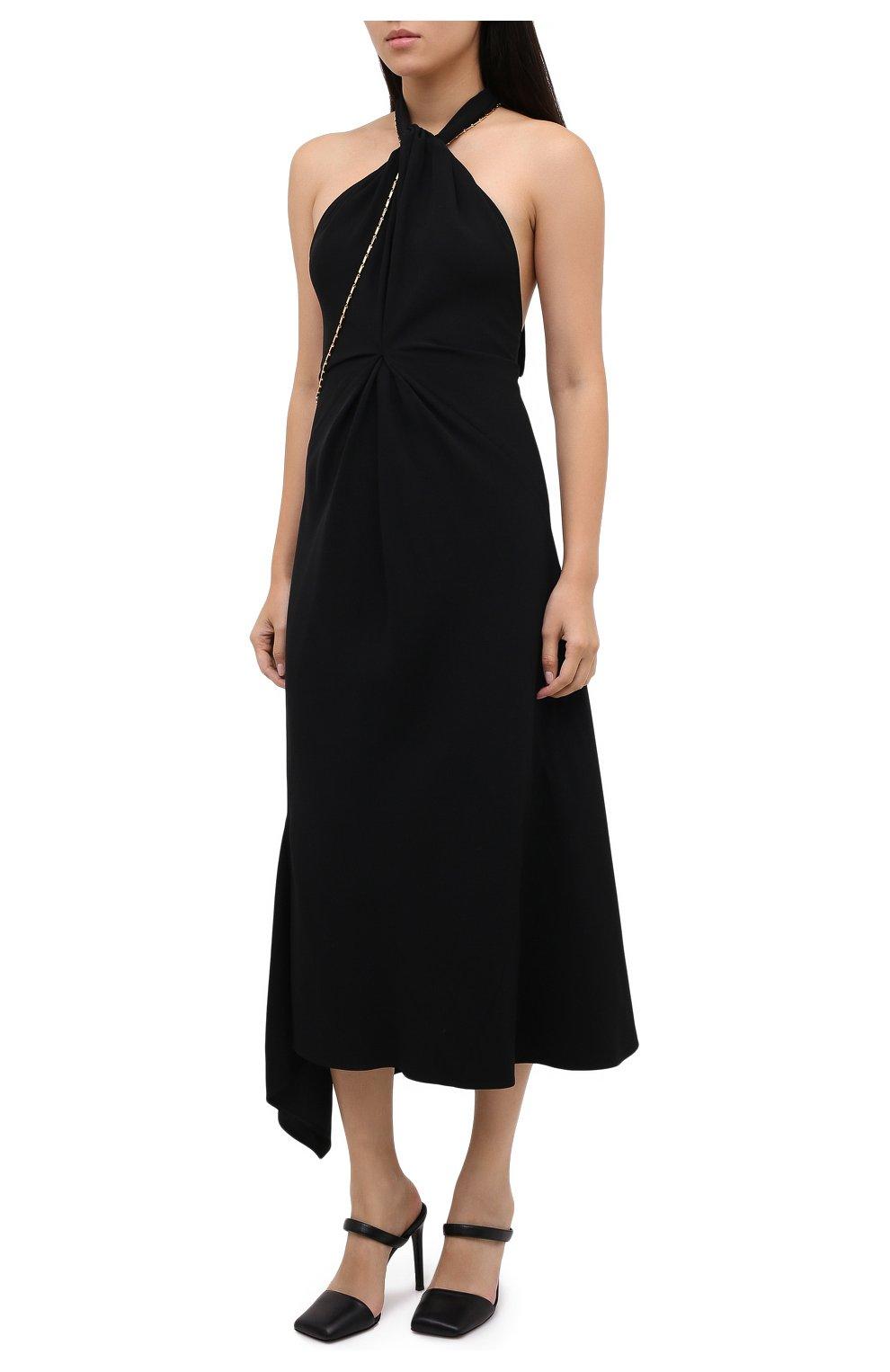 Женское платье из вискозы VICTORIA BECKHAM черного цвета, арт. 1320WDR001625A   Фото 3