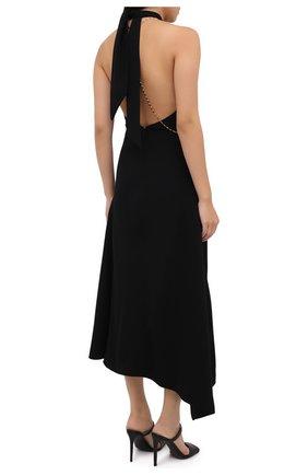 Женское платье из вискозы VICTORIA BECKHAM черного цвета, арт. 1320WDR001625A   Фото 4