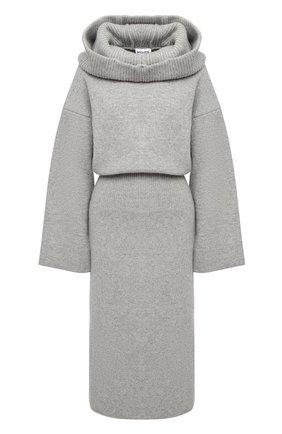 Женское шерстяное платье KENZO светло-серого цвета, арт. FA62WR0423RK | Фото 1