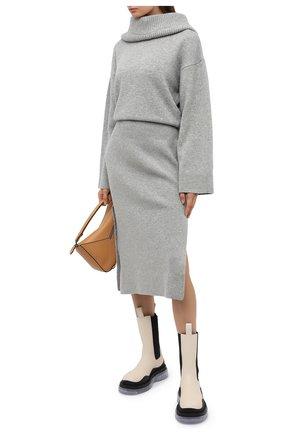 Женское шерстяное платье KENZO светло-серого цвета, арт. FA62WR0423RK | Фото 2