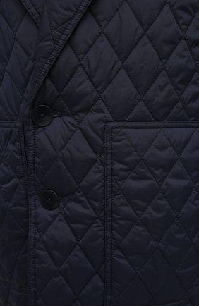 Женское пальто TIBI темно-синего цвета, арт. P220QU9095 | Фото 5 (Рукава: Длинные; Материал внешний: Синтетический материал; Материал подклада: Синтетический материал; Длина (верхняя одежда): Длинные; 1-2-бортные: Однобортные; Стили: Кэжуэл)