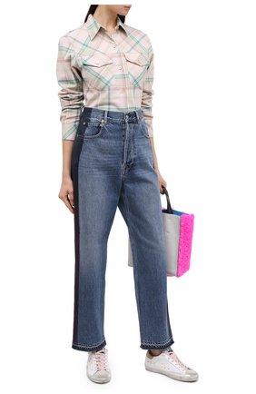 Женские джинсы GOLDEN GOOSE DELUXE BRAND синего цвета, арт. GWP00108.P000131 | Фото 2