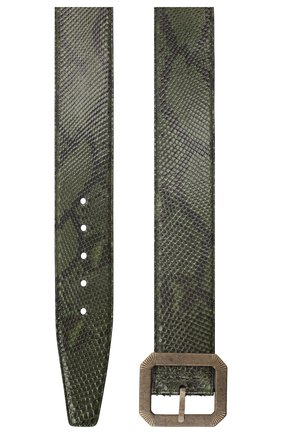 Женский ремень из кожи питона SAINT LAURENT зеленого цвета, арт. 634578/LT90B/PRET   Фото 2