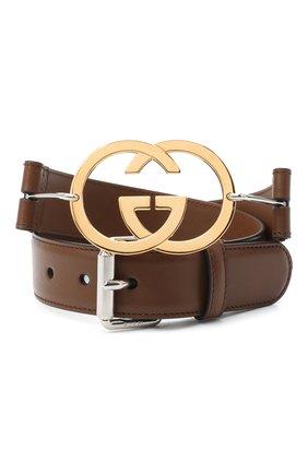 Женский кожаный ремень GUCCI коричневого цвета, арт. 636885/0YA0X   Фото 1