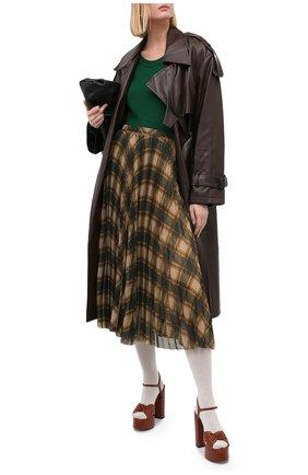 Женский кашемировый пуловер GUCCI зеленого цвета, арт. 628410/XKBB2   Фото 2