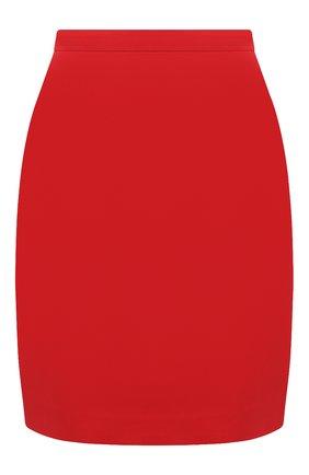 Женская юбка из шелка и шерсти GUCCI красного цвета, арт. 619479/ZAD88 | Фото 1