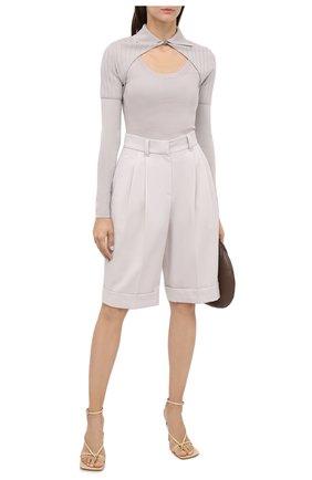 Женский пуловер JACQUEMUS светло-серого цвета, арт. 203KN25/226900   Фото 2