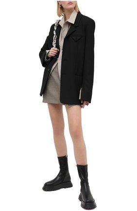Женские кожаные ботинки BURBERRY черного цвета, арт. 8031247 | Фото 2
