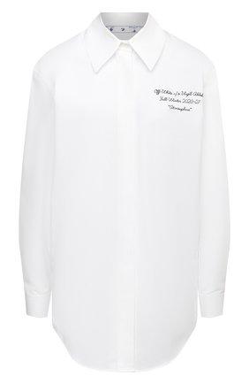 Женская хлопковая рубашка OFF-WHITE белого цвета, арт. 0WGA031E20FAB0030110   Фото 1