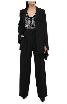 Женское боди BALMAIN черного цвета, арт. UF10893/P050 | Фото 2