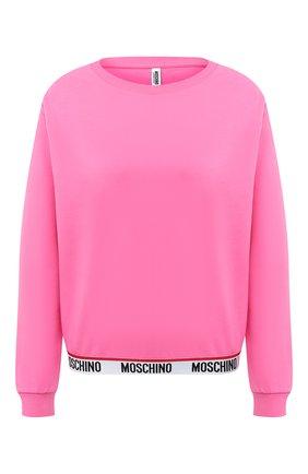 Женский хлопковый свитшот MOSCHINO UNDERWEAR WOMAN розового цвета, арт. A1701/9006 | Фото 1