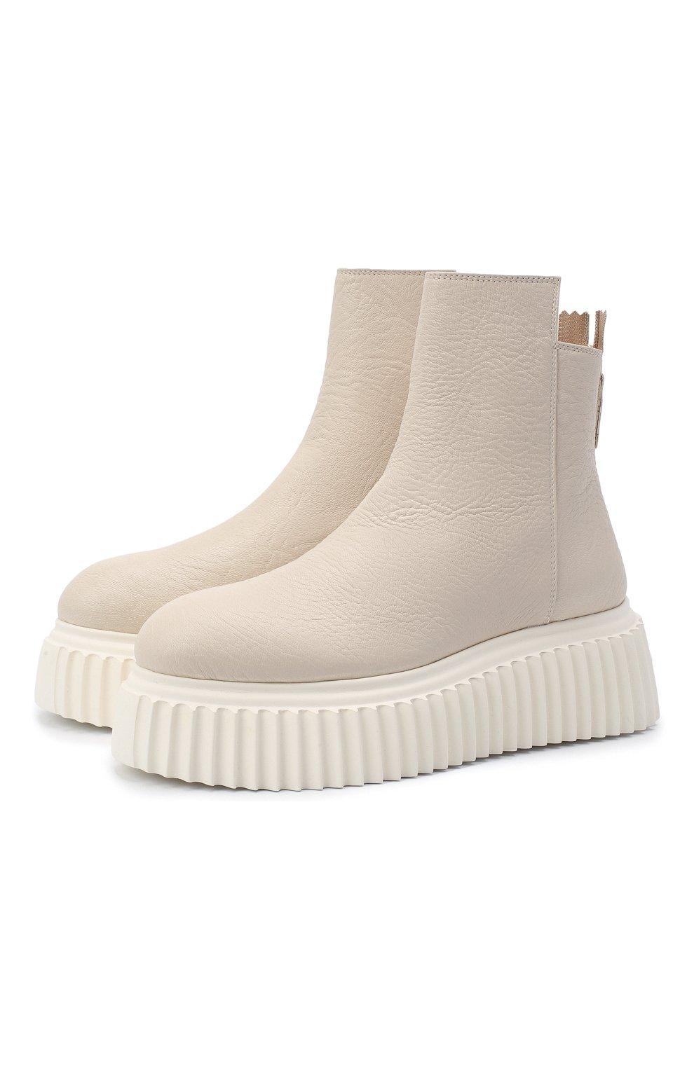 Женские кожаные ботинки AGL белого цвета, арт. D751507PGKI012C650 | Фото 1