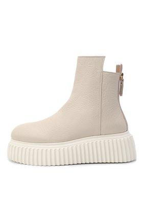 Женские кожаные ботинки AGL белого цвета, арт. D751507PGKI012C650 | Фото 3