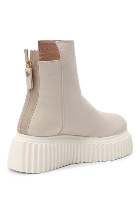 Женские кожаные ботинки AGL белого цвета, арт. D751507PGKI012C650 | Фото 4