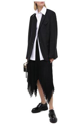 Женская кожаные дерби AGL черного цвета, арт. D756002BGKD0231013   Фото 2