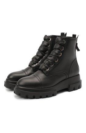 Женские кожаные ботинки AGL черного цвета, арт. D756523BGKD0101013 | Фото 1