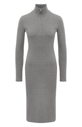 Женское хлопковое платье RAG&BONE серого цвета, арт. WCC20F3015C415 | Фото 1