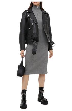 Женское хлопковое платье RAG&BONE серого цвета, арт. WCC20F3015C415 | Фото 2