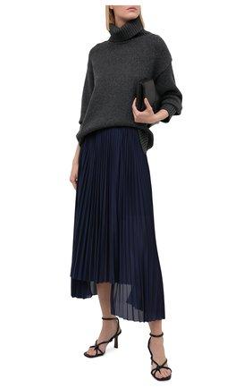 Женский свитер из шерсти и кашемира VALENTINO серого цвета, арт. UB0KC17L5WR | Фото 2
