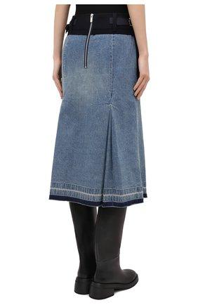 Женская джинсовая юбка SACAI темно-синего цвета, арт. 20-05150 | Фото 4