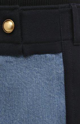 Женская джинсовая юбка SACAI темно-синего цвета, арт. 20-05150 | Фото 5