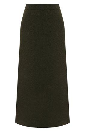 Женская кашемировая юбка LORO PIANA зеленого цвета, арт. FAI8078 | Фото 1