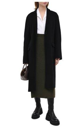 Женская кашемировая юбка LORO PIANA зеленого цвета, арт. FAI8078 | Фото 2