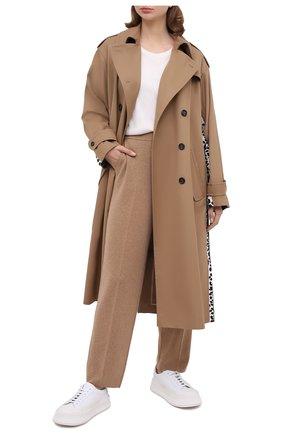 Женские кашемировые брюки LORO PIANA бежевого цвета, арт. FAL3598   Фото 2