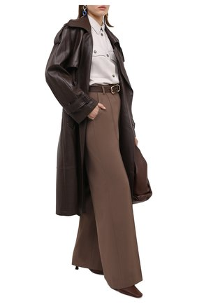 Женская шерстяная рубашка LORO PIANA светло-серого цвета, арт. FAL3666   Фото 2