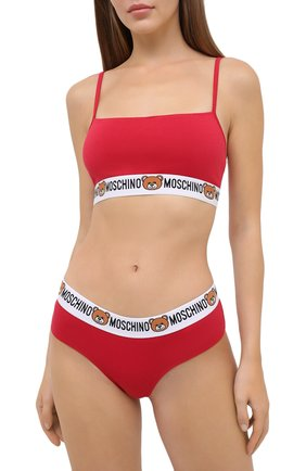Женский бра-топ MOSCHINO UNDERWEAR WOMAN красного цвета, арт. A4606/9003 | Фото 2