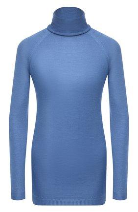 Женская водолазка из кашемира и шелка KITON синего цвета, арт. D50701669 | Фото 1