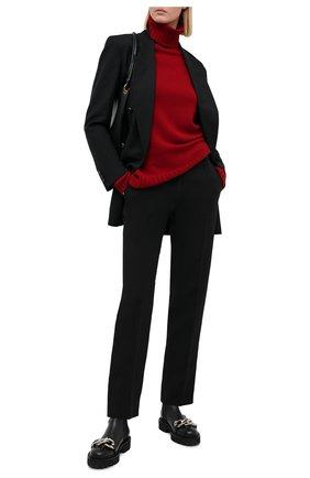 Женский кашемировый свитер KITON красного цвета, арт. D48725536 | Фото 2