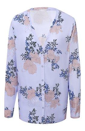 Женская блузка из вискозы HANRO голубого цвета, арт. 077611 | Фото 1