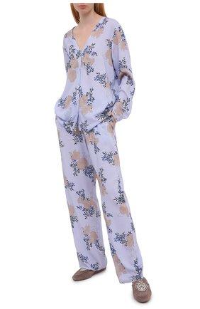 Женская блузка из вискозы HANRO голубого цвета, арт. 077611 | Фото 2