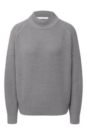 Женский свитер из хлопка и шерсти BOSS темно-серого цвета, арт. 50436172 | Фото 1