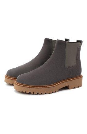 Женские замшевые ботинки HOGAN серого цвета, арт. HXW5430DG8004J | Фото 1