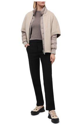 Женский кашемировый пуловер EXTREME CASHMERE коричневого цвета, арт. 098/KID   Фото 2