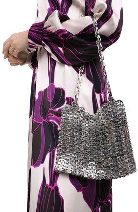 Женская сумка iconic 1969 PACO RABANNE серебряного цвета, арт. 19ESS0007MET001 | Фото 2