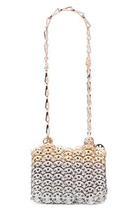 Женский сумка nano 1969 PACO RABANNE серебряного цвета, арт. 20ASS0127MET123 | Фото 1