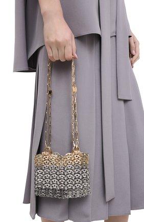Женский сумка nano 1969 PACO RABANNE серебряного цвета, арт. 20ASS0127MET123 | Фото 2