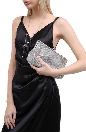 Женский клатч pixel ii PACO RABANNE серебряного цвета, арт. 20ASS0194MET004 | Фото 2