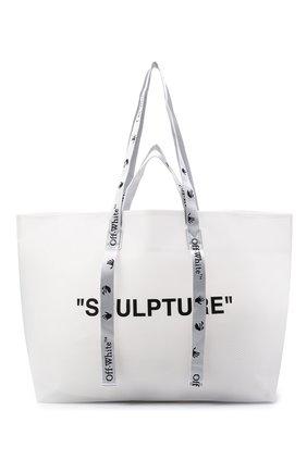 Женский сумка-шопер sculpture OFF-WHITE белого цвета, арт. 0WNA094E20PLA0020110 | Фото 1