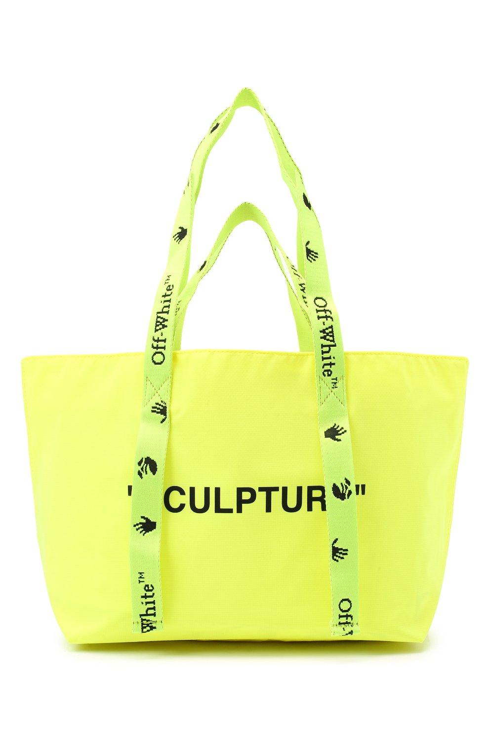 Женский сумка-шопер sculpture small OFF-WHITE желтого цвета, арт. 0WNA143E20PLA0011810 | Фото 1