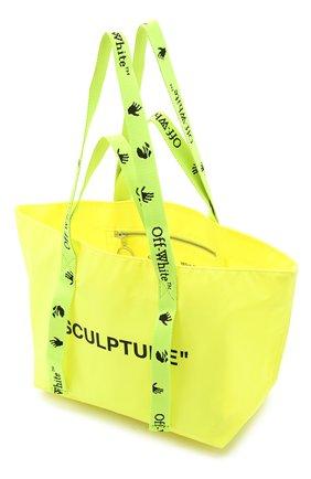 Женский сумка-шопер sculpture small OFF-WHITE желтого цвета, арт. 0WNA143E20PLA0011810 | Фото 4