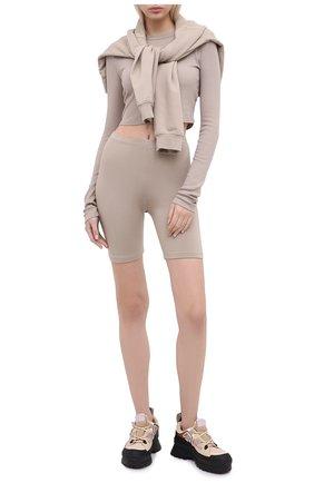 Женские шорты COTTON CITIZEN темно-бежевого цвета, арт. W4186112 | Фото 2