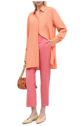 Женские шерстяные брюки JOSEPH розового цвета, арт. JP000982   Фото 2