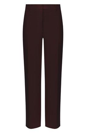 Женские шерстяные брюки JOSEPH бордового цвета, арт. JP000982   Фото 1